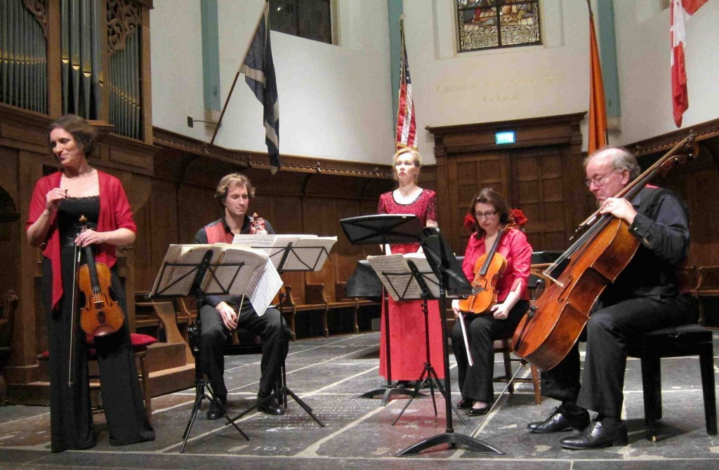 Musicians performing at the English Reformed Church, Amsterdam