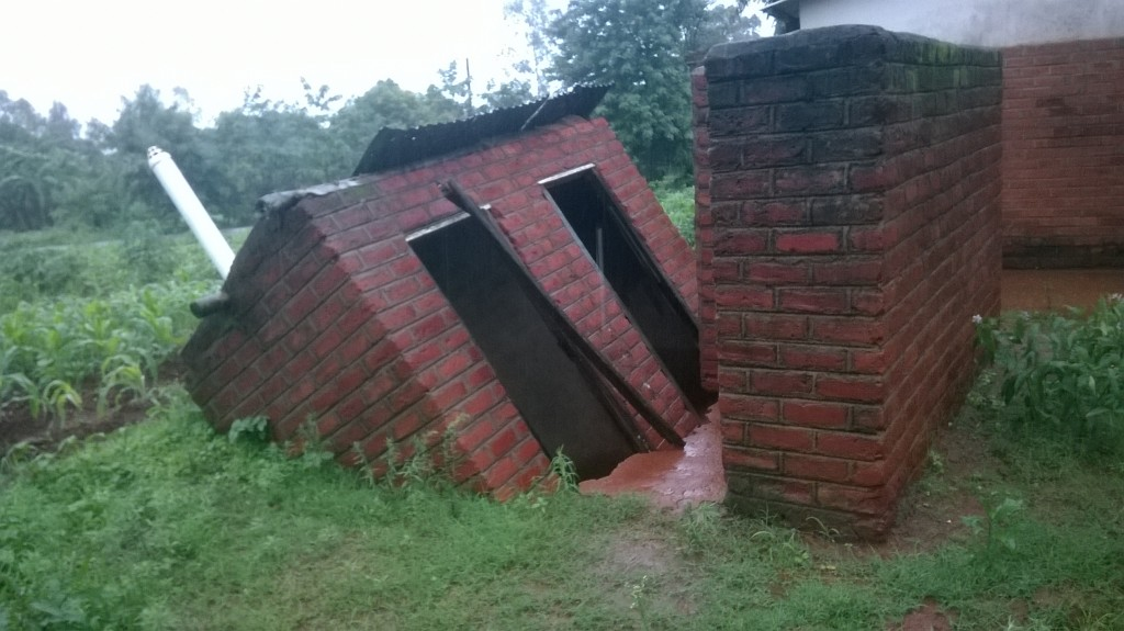 Toilets collapse as flood water runs through hospital buildings