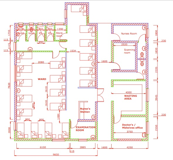 proposed antenatal ward plan
